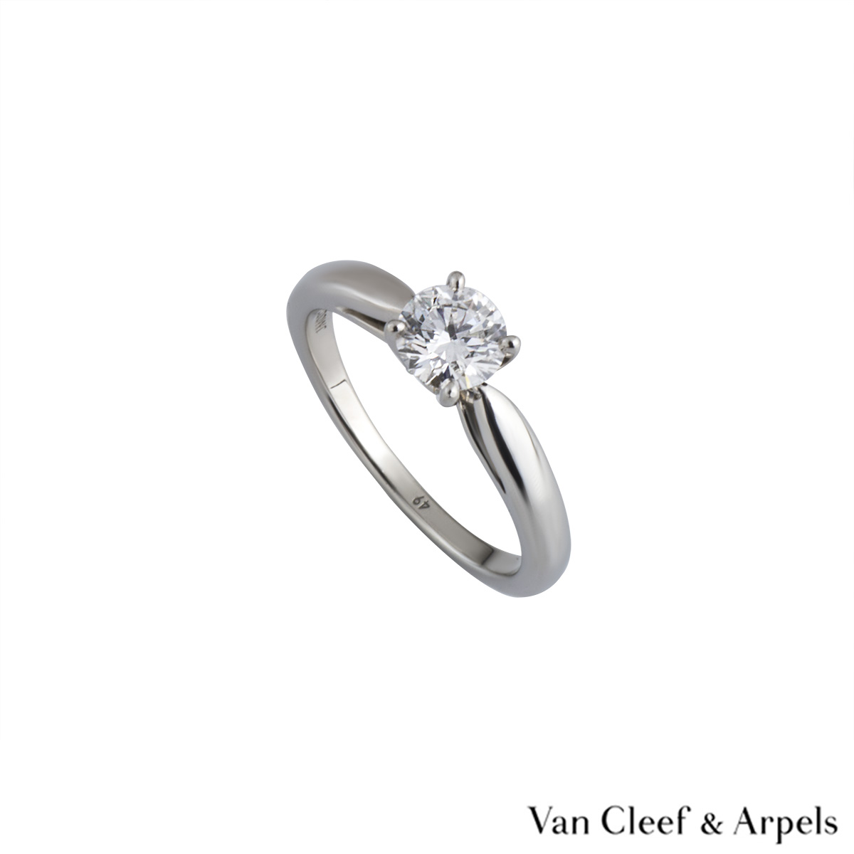 Van Cleef & Arpels XXX Diamond Ring in Platinum 0.50ct D/VVS2